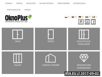 Zrzut strony Okna pcv i aluminiowe - OknoPlus