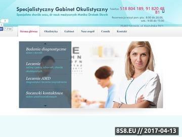 Zrzut strony Dobry okulista Szczecin
