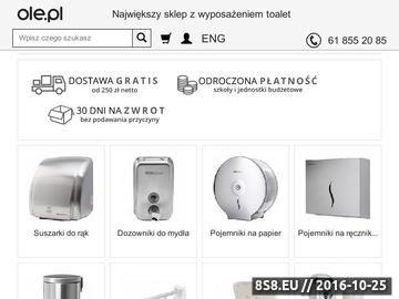 Zrzut strony Sklep www.ole.pl - prefesjonalne wyposażenie toalet publicznych
