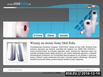 Zrzut strony Arkusze foliowe - Olek - Folia