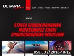 Miniaturka domeny www.olimpic-skydive.pl