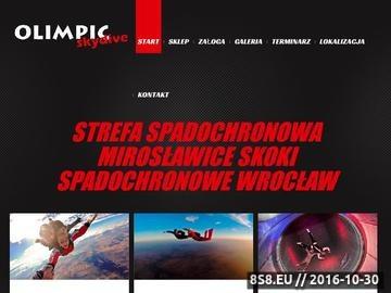 Zrzut strony Olimpic Skydive