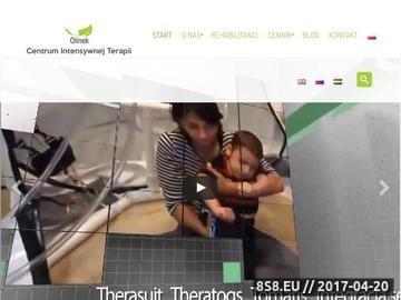 Zrzut strony Centrum Intensywnej Terapii, Rehabilitacji OLINEK