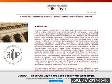 Zrzut strony Olszański prawnik