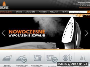 Zrzut strony OMB Group zajmuje się sprzedażą maszyn do przemysłu tekstylnego