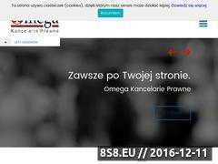 Miniaturka domeny www.omega-kancelaria.pl