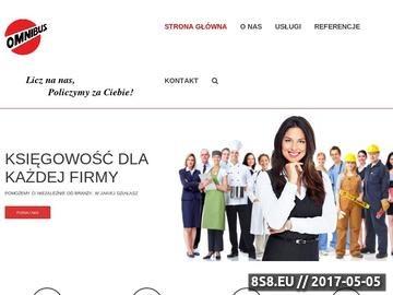 Zrzut strony Prowadzenie księgowości Szczecin - OMNIBUS