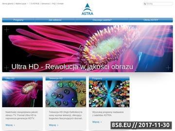Zrzut strony Cyfrowa TV Astra