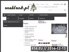 Miniaturka domeny www.oneblank.pl