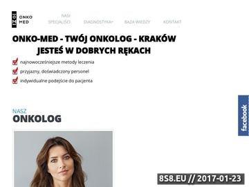 Zrzut strony Onko-Med Małopolska