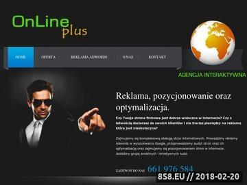 Zrzut strony Online-plus - reklama optymalizacja pozycjonowanie