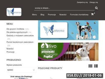 Zrzut strony Sklep Zoologiczny Mariposa - sklep on-line