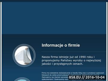 Zrzut strony Opakowania foliowe, producent opakowań foliowych w Łodzi