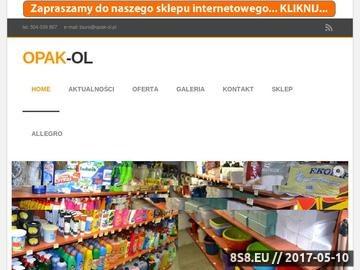 Zrzut strony OPAK-OL artykuły wyposażenia sklepów
