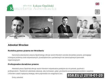 Zrzut strony Kancelaria adwokacka Wrocław