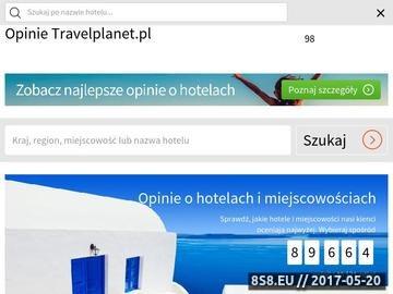 Zrzut strony Opinie o hotelach w Travelplanet.pl