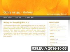 Miniaturka domeny www.opisynagg.dla4.pl