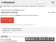 Miniaturka domeny oponyserwis.auto.pl