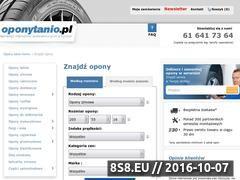 Miniaturka domeny www.oponytanio.pl