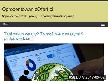 Zrzut strony Oprocentowanieofert.pl - zestawienie ofert lokat