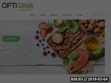 Zrzut strony OptiDiet - dieta z dostawą do biura