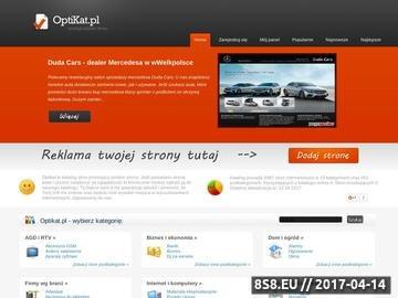 Zrzut strony OptiKat - katalog stron www