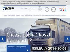 Miniaturka domeny www.optimaspedycja.pl