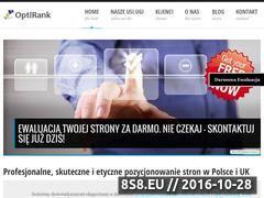 Miniaturka domeny www.optirank-pozycjonowanie.pl