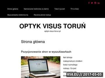 Zrzut strony VISUS badanie wzroku