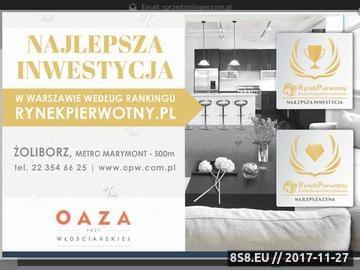 Zrzut strony Mieszkania w Warszawie od OPW