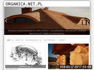 Zrzut strony Organica - budujemy zdrowe domy drewniane