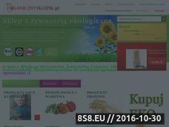Miniaturka domeny www.organicznysklepik.pl