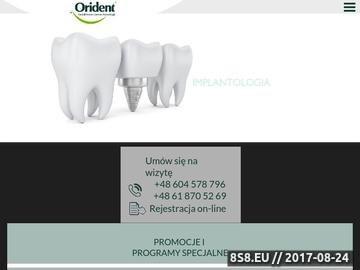 Zrzut strony Protetyka Poznań
