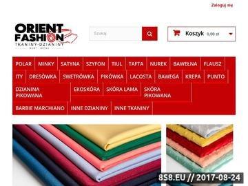 Zrzut strony Tkaniny - sklep internetowy Orient Fashion