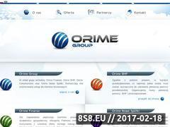 Miniaturka domeny www.orimegroup.pl