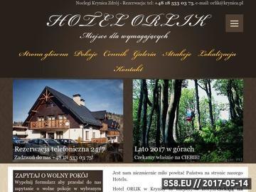 Zrzut strony Hotel Orlik Krynica