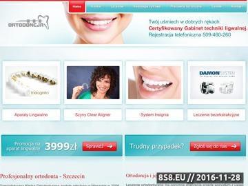 Zrzut strony Ortodonta Szczecin