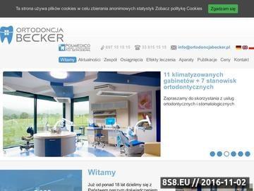 Zrzut strony Becker - ortodonta Żory
