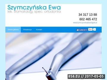 Zrzut strony E. Szymczyńska - stomatolog