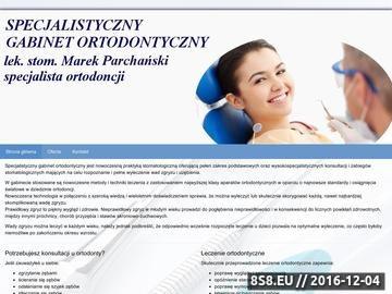 Zrzut strony Ortomed - stomatologia