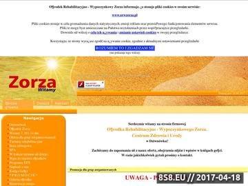 Zrzut strony Ośrodek Rehabilitacyjno-Wypoczynkowy Zorza. Centrum Zdrowia i Urody w Dziwnówku.