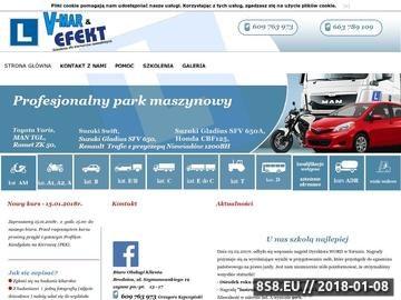 Zrzut strony Szkolenie kierowców - EFEKT