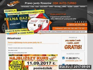 Zrzut strony AUTO TURBO - prawo jazdy Rzeszów