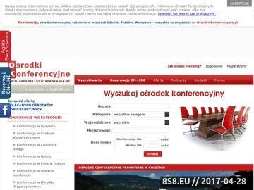 Zrzut strony Portal skupiający polskie osrodki konferencyjne