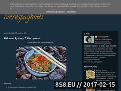 Miniaturka domeny ostrespaghetti.blogspot.com