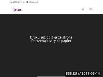 Zrzut strony Otus - tonery Wrocław