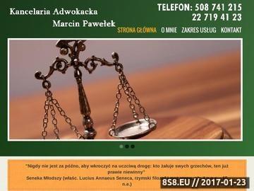 Zrzut strony Adwokat Otwock | Marcin Pawełek