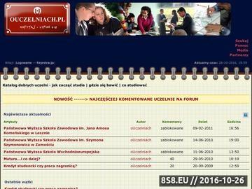 Zrzut strony Forum oUczelniach.pl - Katalog dobrych uczelni