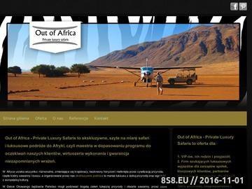 Zrzut strony Ekskluzywne, szyte na miarę podróże do Afryki