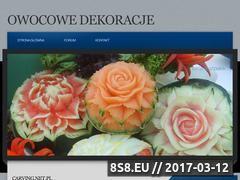 Miniaturka domeny www.owocowedekoracje.pl